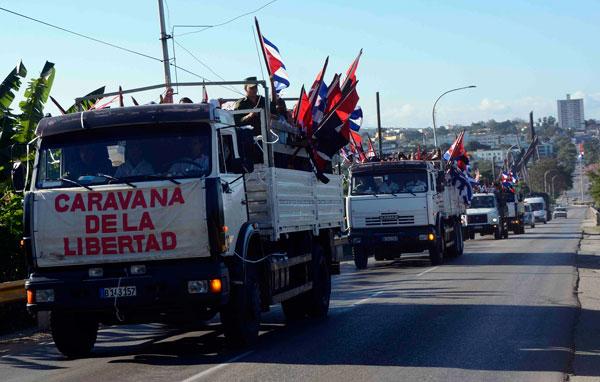 Recuerdan partida de la Caravana de la Libertad desde Santiago de Cuba