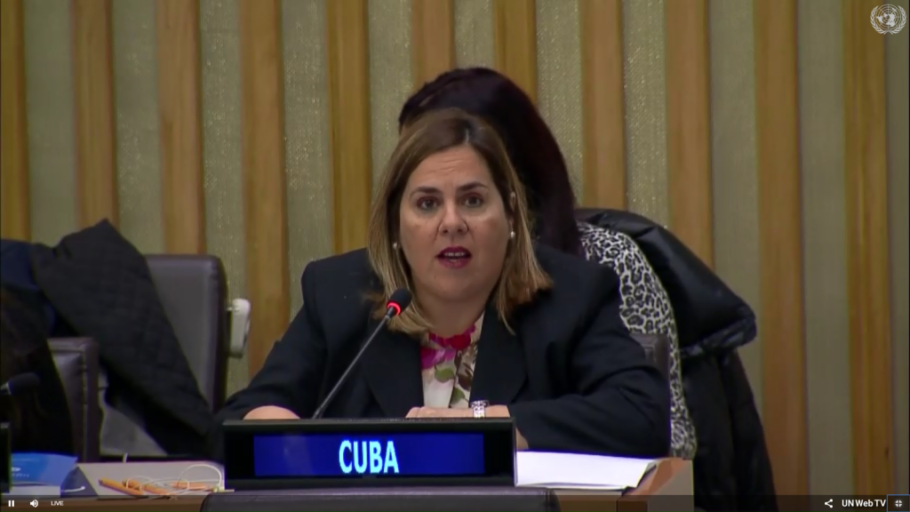 Cuba's support for Palestine's presidency in G77 plus China