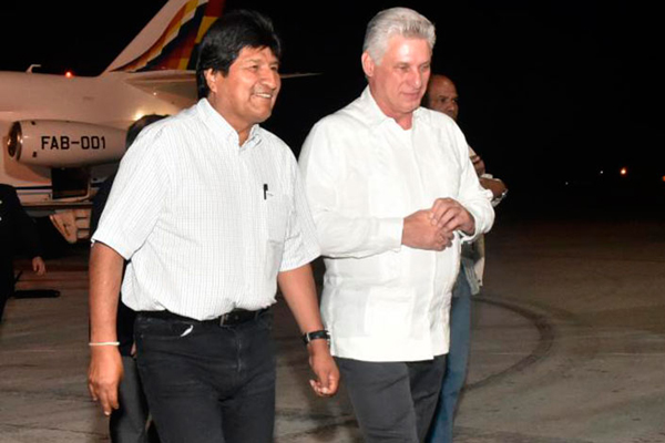 Diaz-Canel receives Bolivian President in Havana