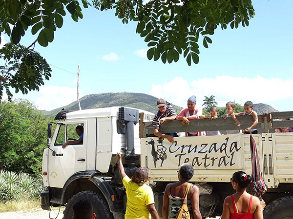 El emblemático camión que transporta a la Cruzada.