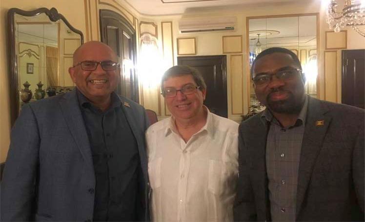 Cuban FM receives His Grenadian counterpart