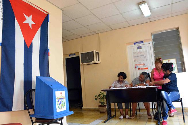 Prueba dinámica para próximo Referendo Constitucional, efectuada en la ciudad de Bayamo, provincia de Granma, Cuba, el 17 de febrero de 2019.