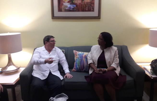 Le Chancelier cubain commence une visite officielle à la Barbade