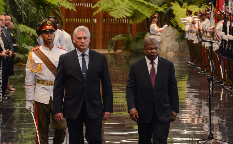 Diaz-Canel receives the President of Angola