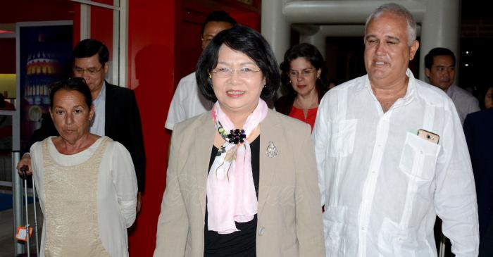 Vicepresidenta de Vietnam llegó hoy en visita oficial a Cuba
