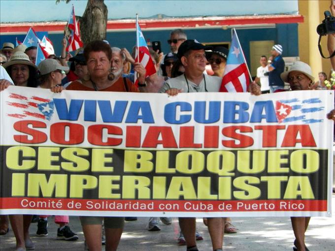 Repudian grupos puertorriqueños de solidaridad con Cuba recrudecimiento del bloqueo estadounidense