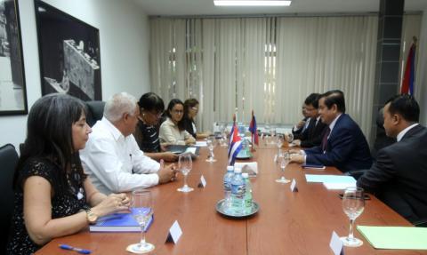 Fortalece Cuba relaciones bilaterales con el Reino de Cambodia