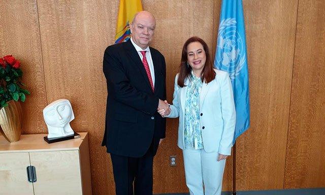 Rodrigo Malmierca rencontre des directeurs de l'ONU