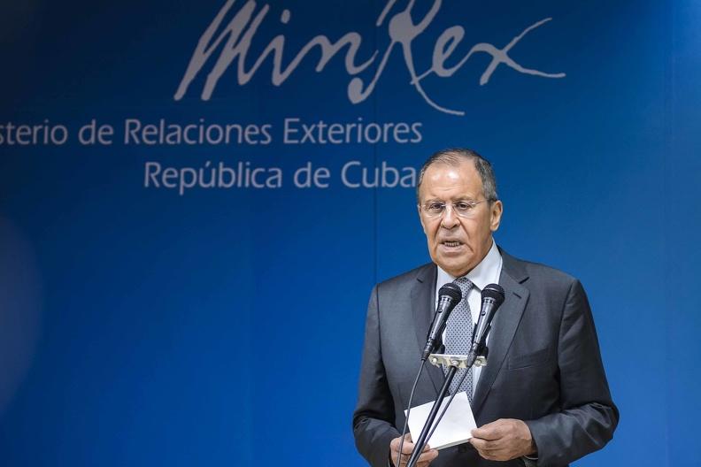 Díaz-Canel a reçu le Chancelier russe