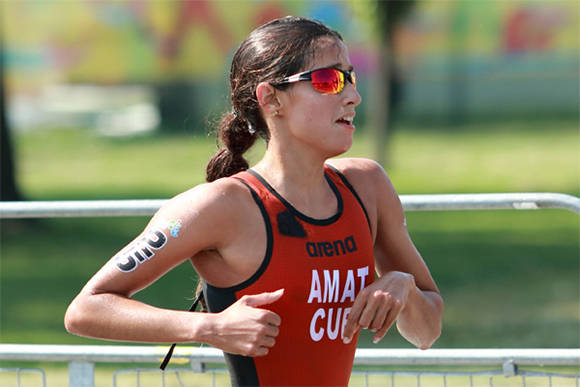 Cuban triathlete Leslie Amat will compete in the South Korean World Cup