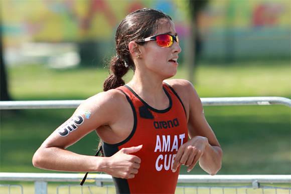 Cubana Leslie Amat como cuarta de América en Copa Mundial de Triatlón