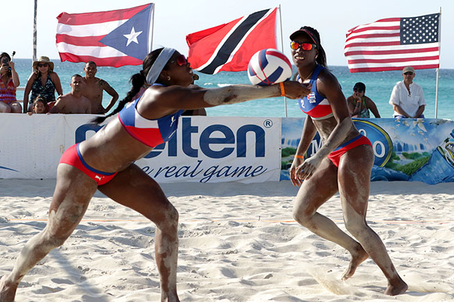 Cuba wins two gold and two bronze medals in beach volleyball tournament
