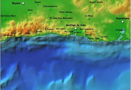 Un séisme perceptible à Santiago de Cuba