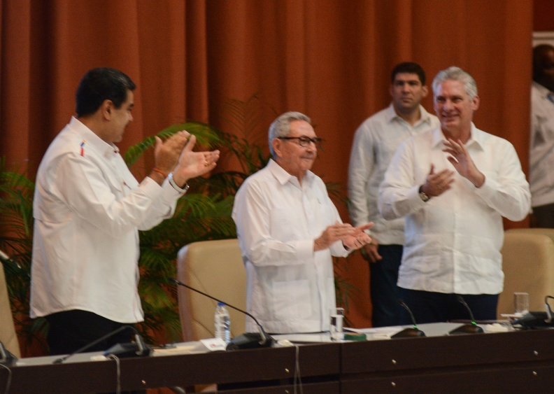 Raúl and Díaz-Canel attend Anti-imperialist Meeting in Havana