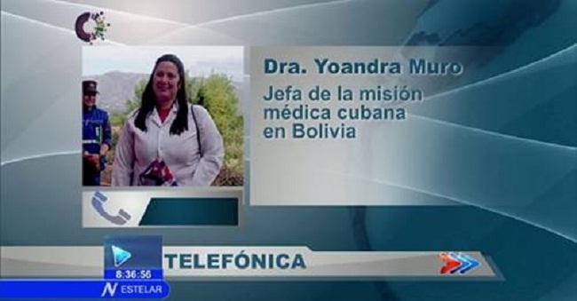Asegura Ministerio de Salud Pública que colaboradores cubanos en Bolivia están seguros (+ Video)