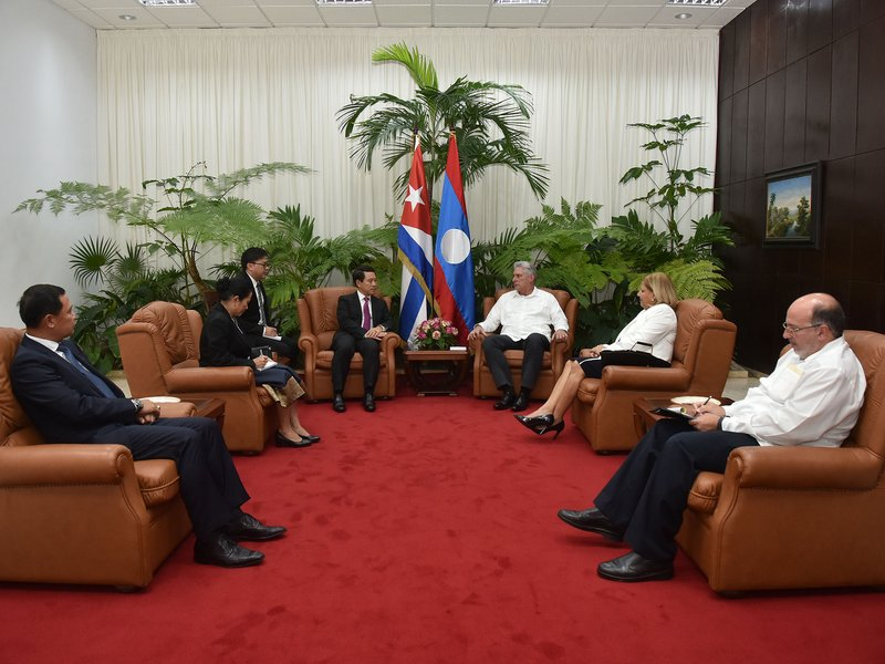 Díaz-Canel a reçu le Chancelier laotien