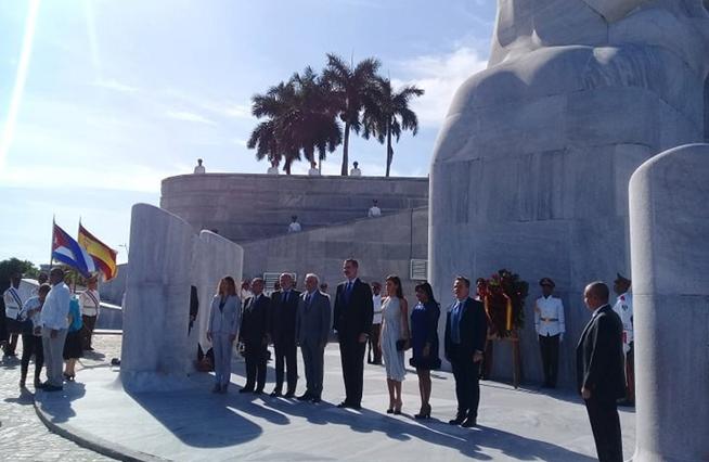 Les rois d'Espagne rendent hommage à José Martí