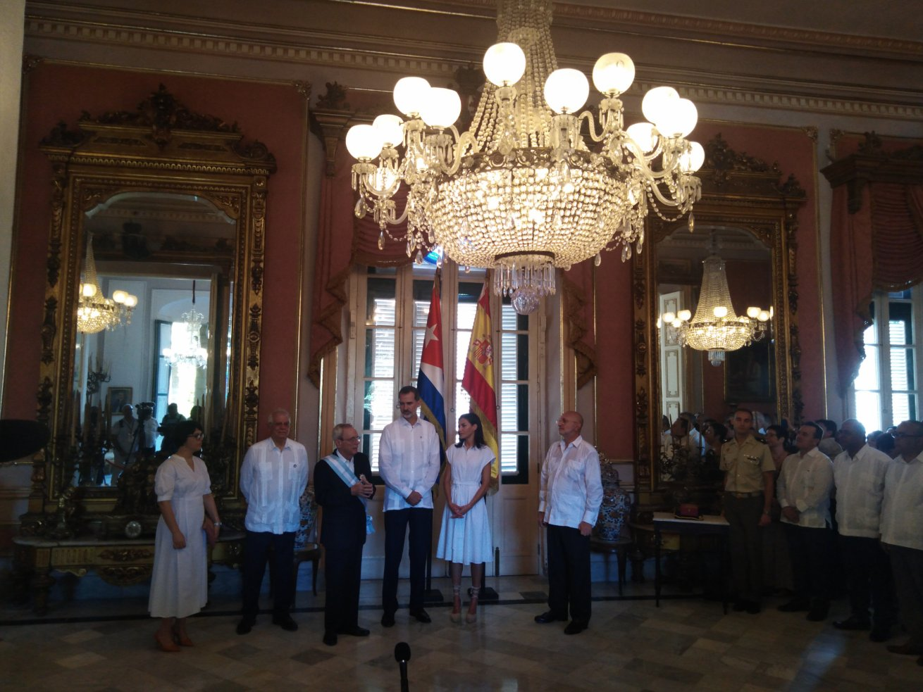 Spanish King and Queen tour Old Havana, decorateEusbeio Leal