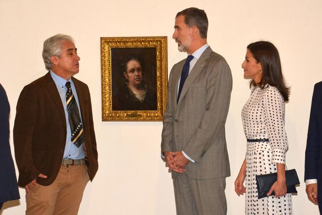 Spanish monarchs open self-portrait exhibition of Francisco de Goya in Havana