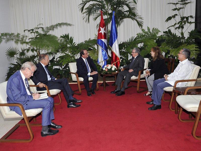 Recibieron Raúl y Díaz-Canel a François Hollande, ex presidente de Francia