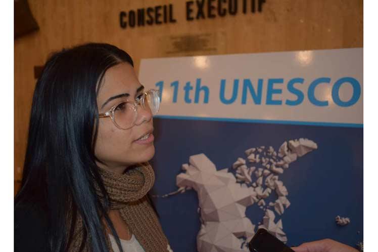 De jeunes cubains défendent à l'UNESCO des causes justes de l'Amérique latine