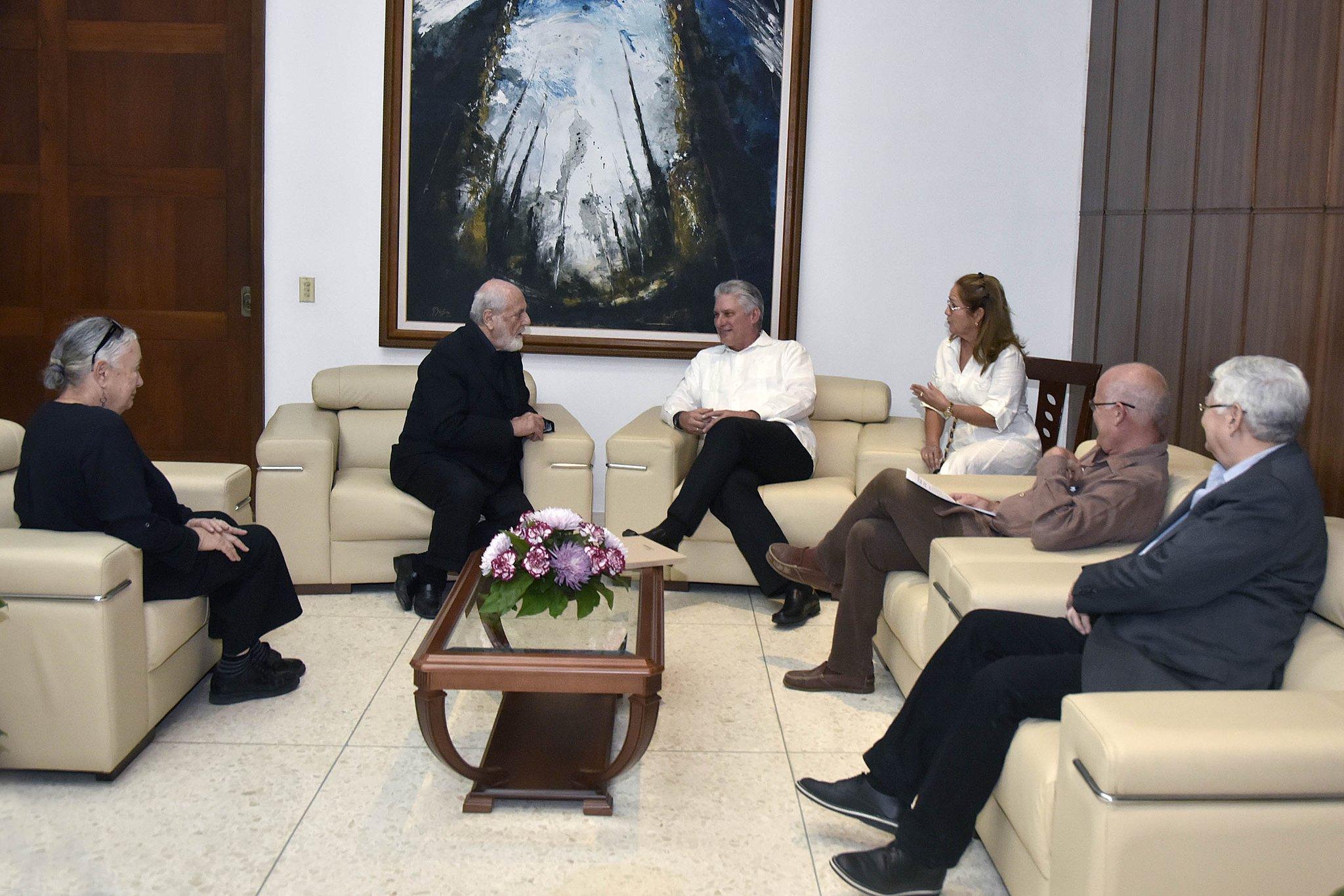 Le Président Díaz-Canel a reçu l'artiste italien Michelangelo Pistoletto