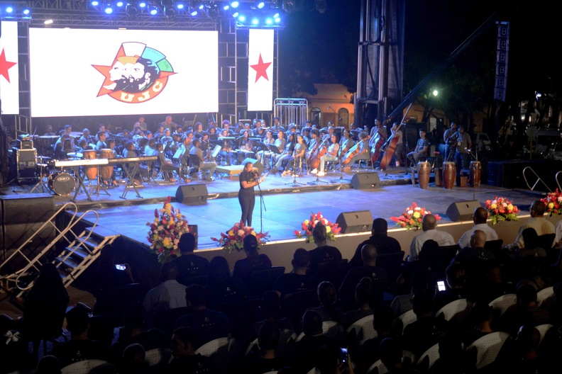 Tribute to Fidel at the University of Havana, with the presence of Díaz-Canel