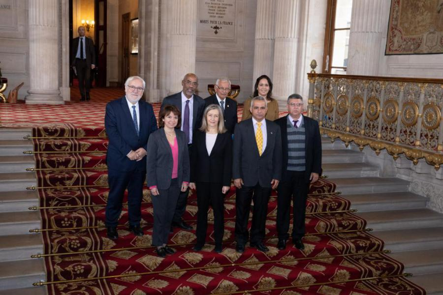 French senate receives Cuban parliamentary delegation