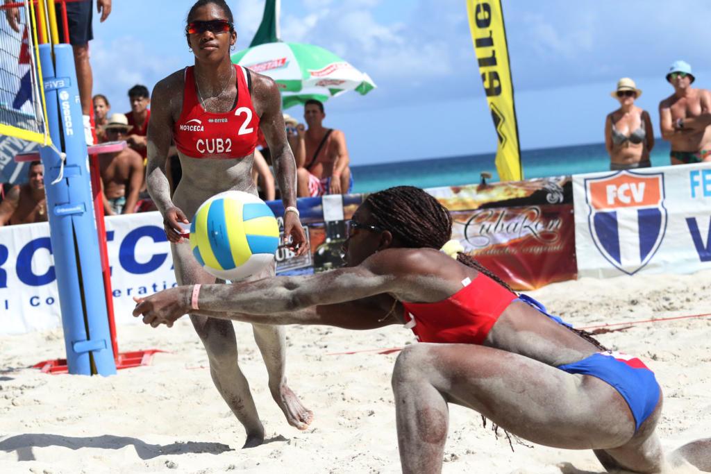 Cubanas por mantener invicto en circuito NORCECA de Voleibol de playa