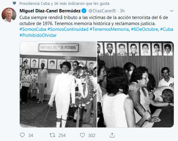 Díaz-Canel rend hommage aux victimes du crime de la Barbade