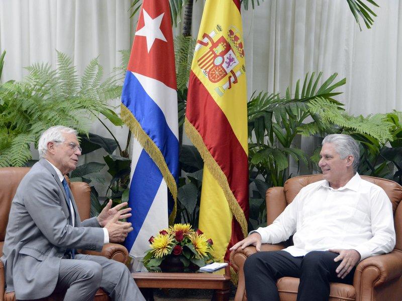 Díaz-Canel a reçu le Ministre des Affaires étrangères d'Espagne