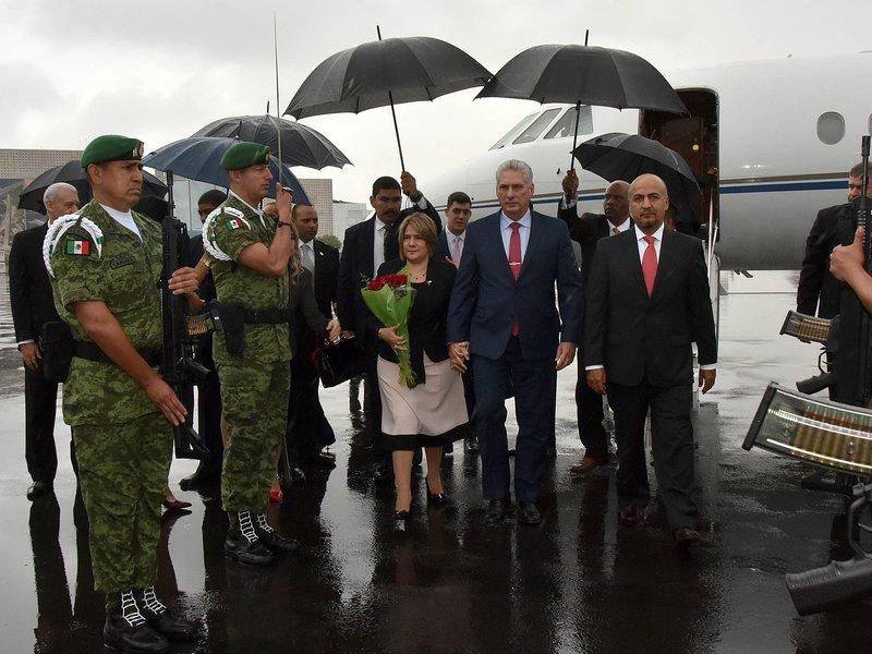 Llegó el Presidente Díaz-Canel a México