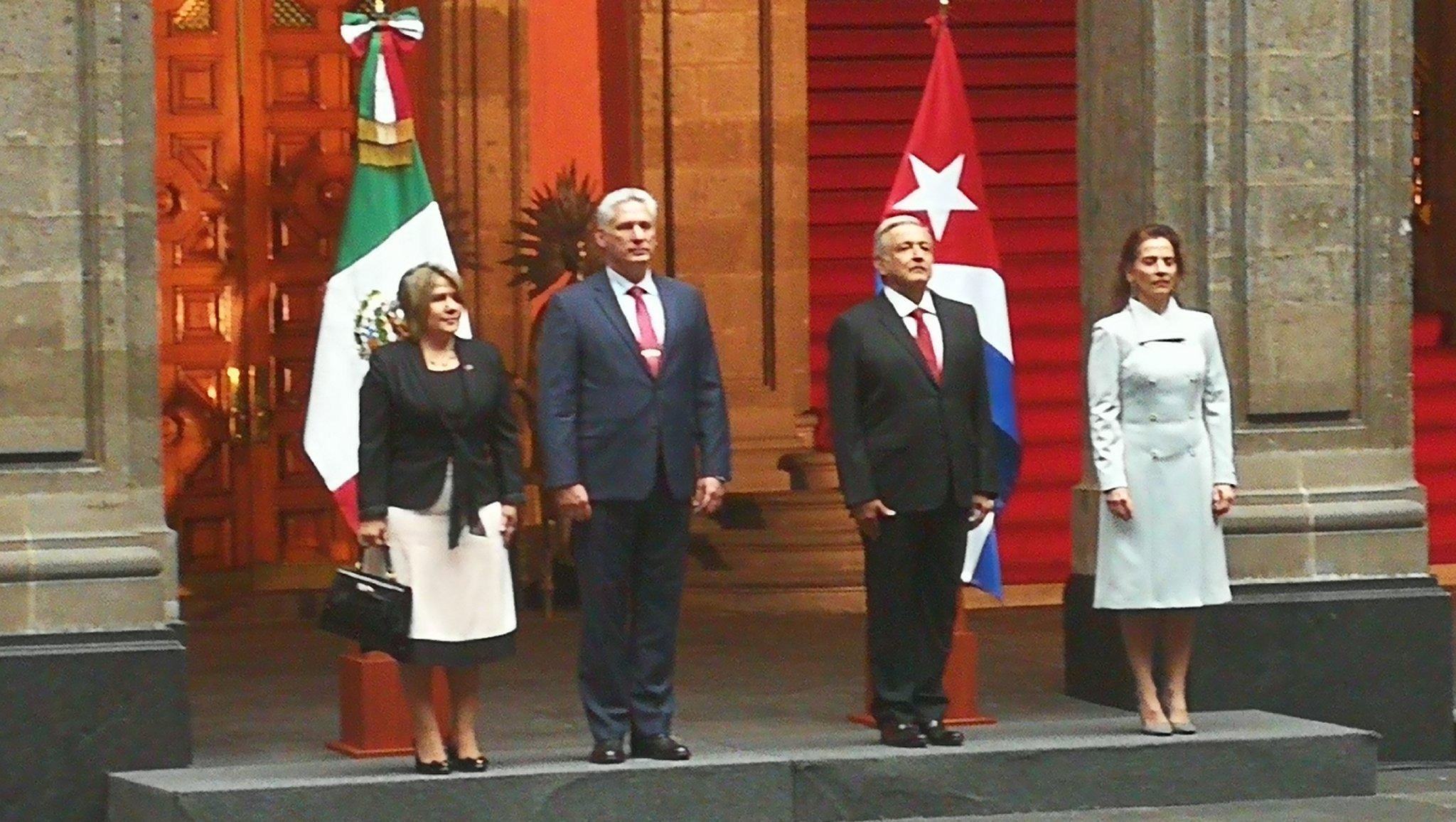 Le président mexicain reçoit son homologue cubain Miguel Díaz-Canel