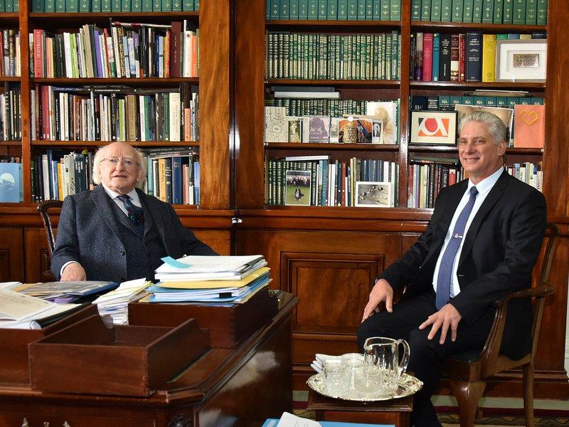 Resalta Díaz-Canel amistad y mutua admiración entre Cuba e Irlanda