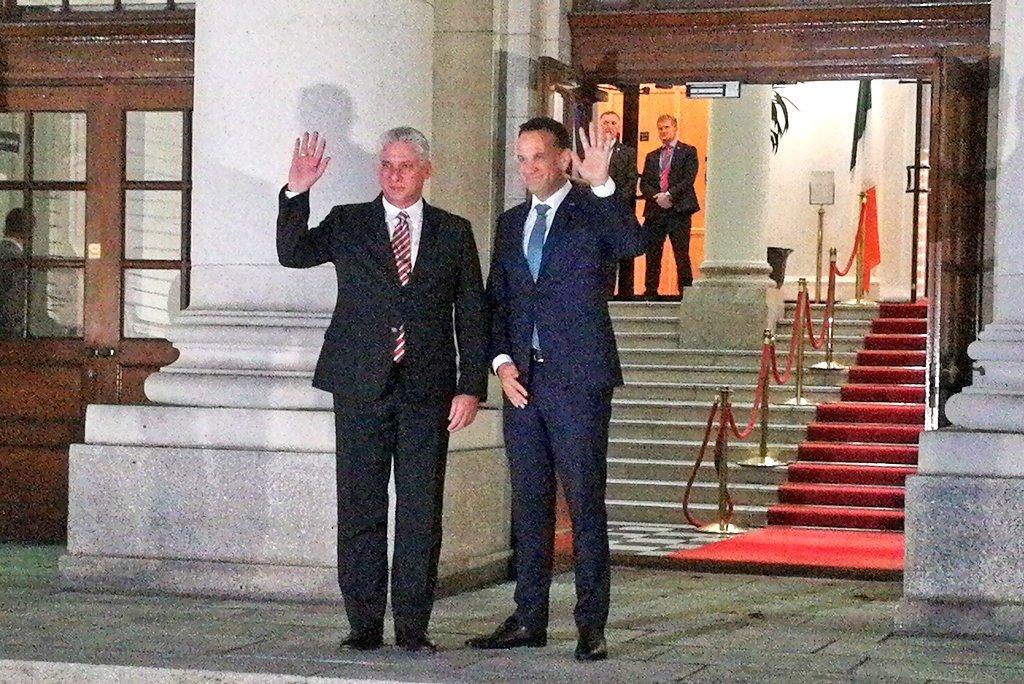 Le Président cubain rencontre le Premier ministre irlandais