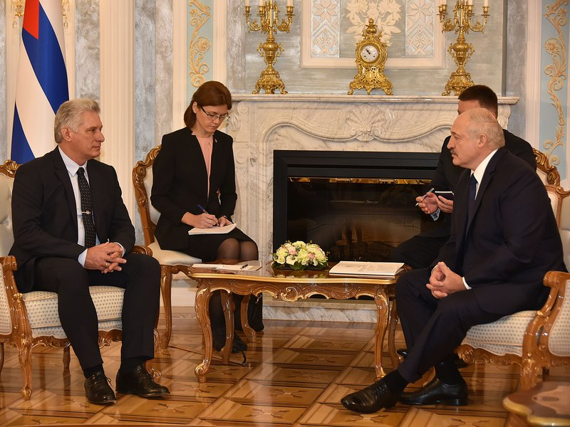 Diaz-Canel and Lukashenko hold fraternal meeting