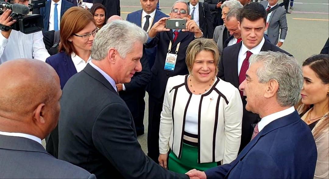 Le président de Cuba est arrivé à l'Azerbaïdjan pour le Sommet du Mnoal