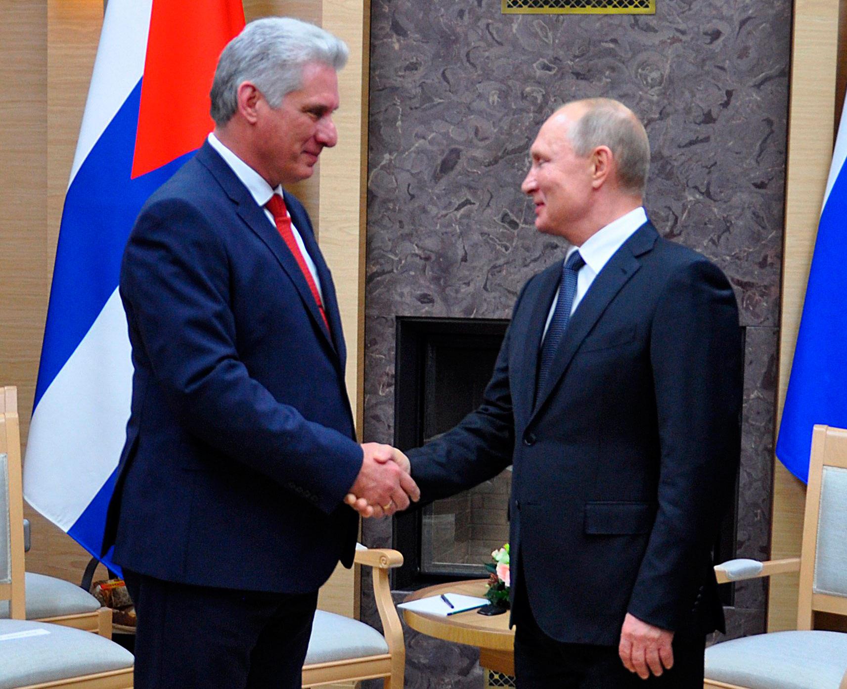 Vladimir Putin and Diaz-Canel hold talks