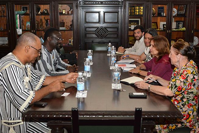 Cuban senior official receives first deputy president of the Burkina Faso Parliament