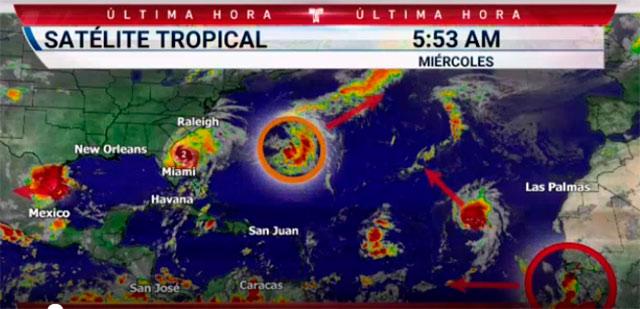 Se forma la tormenta tropical Gabrielle sobre aguas del Atlántico
