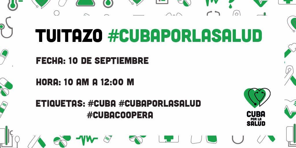 Convocan en Cuba a tuitazo en defensa de colaboradores de la Salud