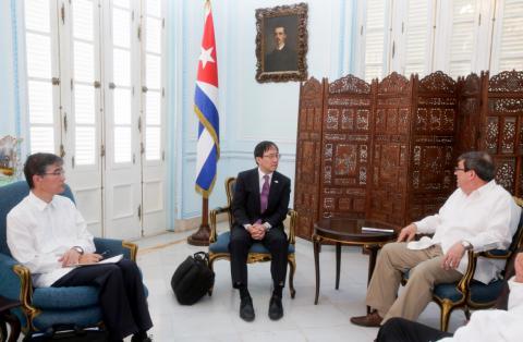 Constatan Cuba y Japón  buen estado de las relaciones bilaterales (+ Tuit)
