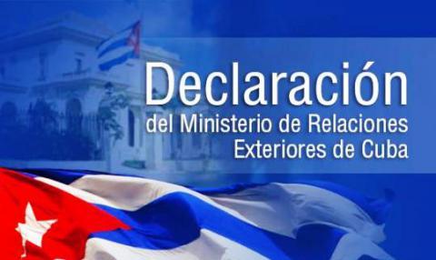 Condena Ministerio de Relaciones Exteriores de Cuba injerencia en asuntos internos de China