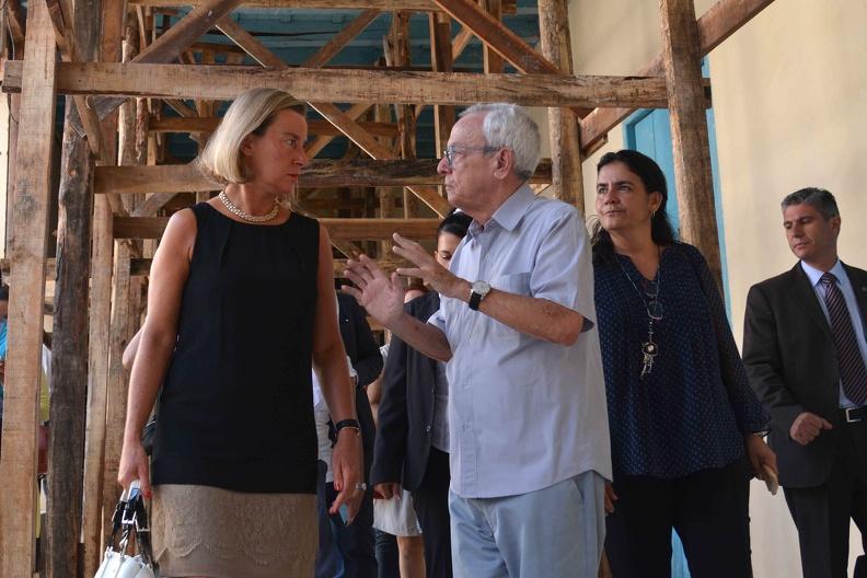 Recorrió Federica Mogherini obras beneficiadas en Cuba con capital de la UE