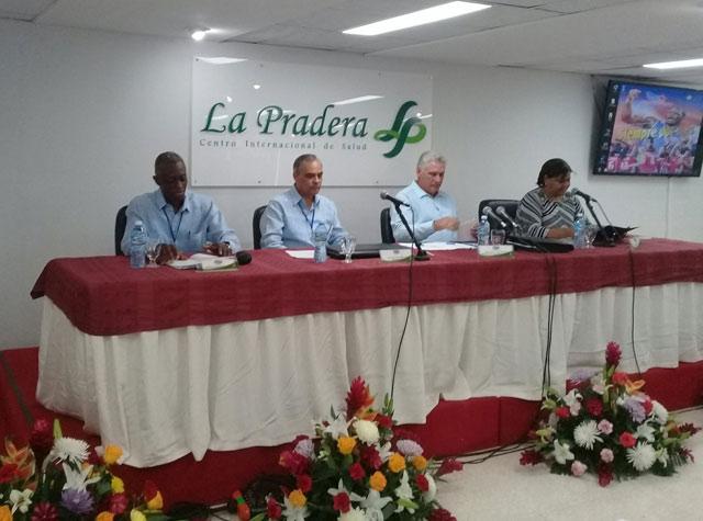 Díaz-Canel en balance anual del Instituto Nacional de Deportes, Educación Física y Recreación