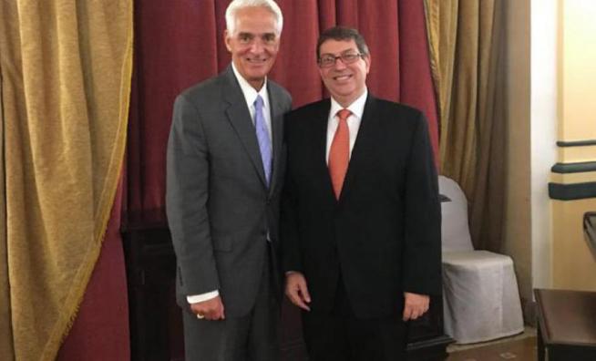 Cuban Foreign Minister receives U.S. Congressman Charlie Crist