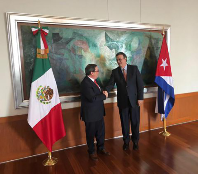 Cuban Minister of Foreign Affairs on visit to Mexico