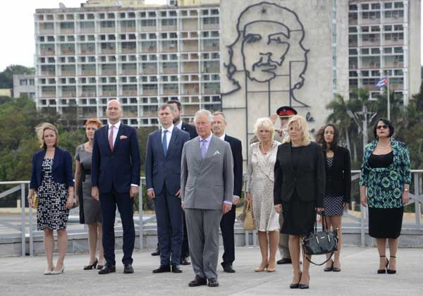 Diaz-Canel will receive members of the British royal family