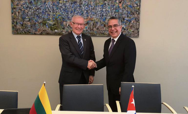 Cuba and Lithuania strengthen their relations