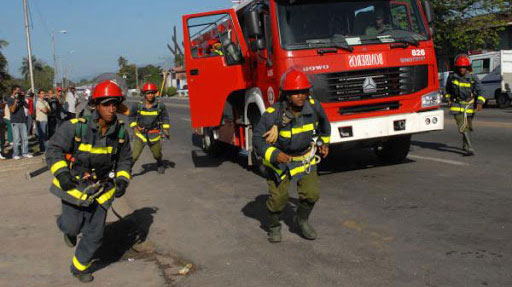 Cuban Fire Department trained with technical standards